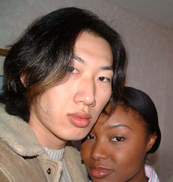 Asian and black girl